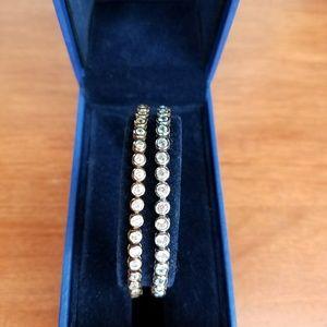 White topaz cinch tennis bracelet